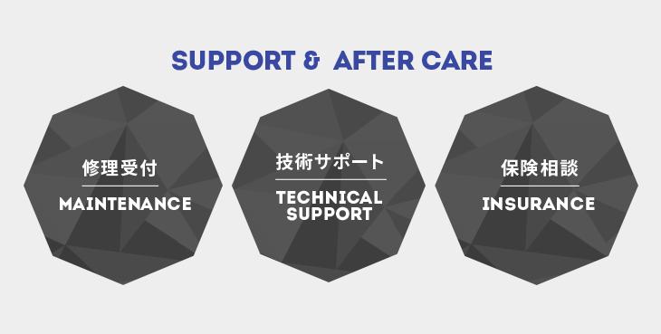 サポート・アフターケア