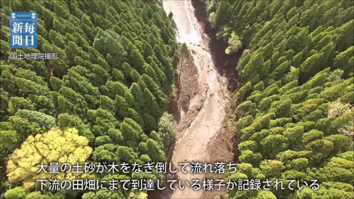 ドローン空撮・熊本地震:南阿蘇・山王谷川の土砂災害現場(国土地理院撮影)