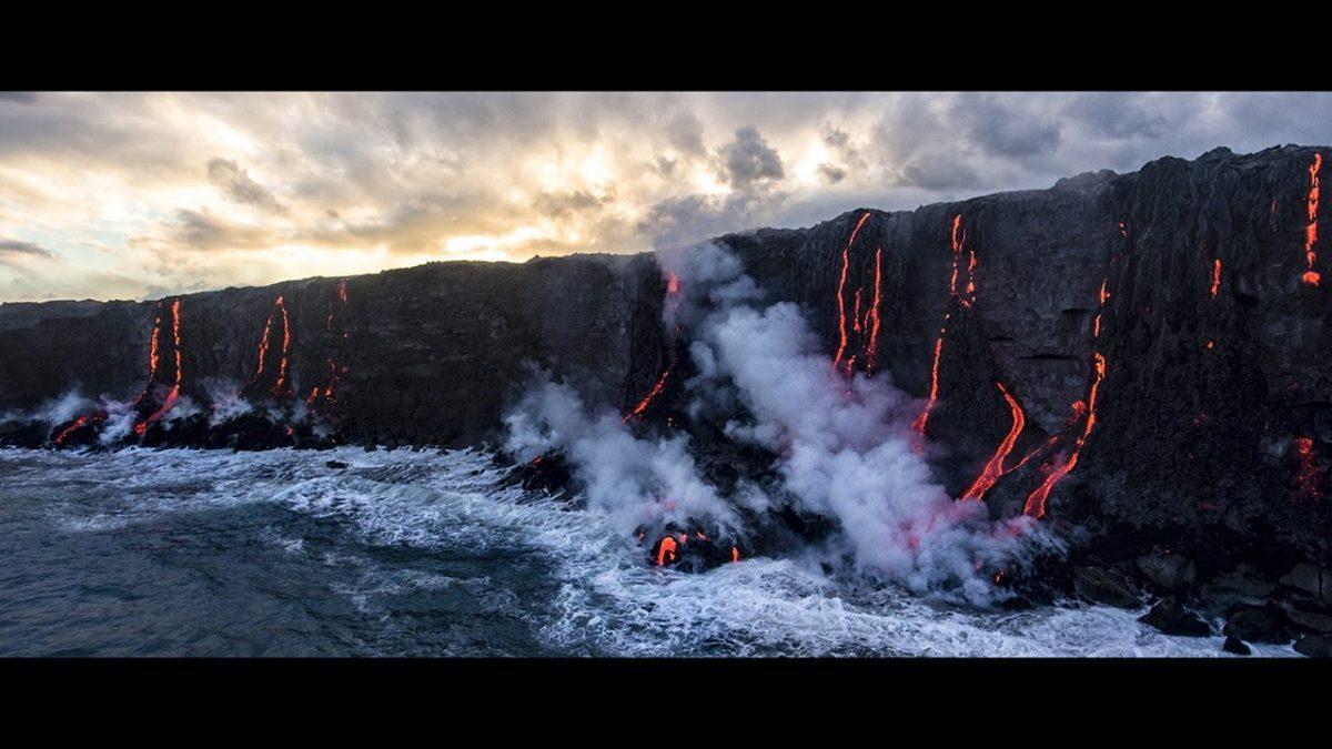 DJI Phantom 4 Pro 火山撮影