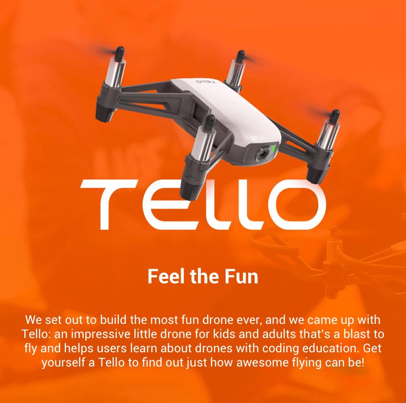 遂に登場した小型ドローンの最高傑作!その名はTello!