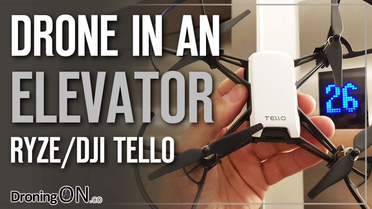 意外な動き!?もしもエレベーターの中でTelloを飛ばしたら?