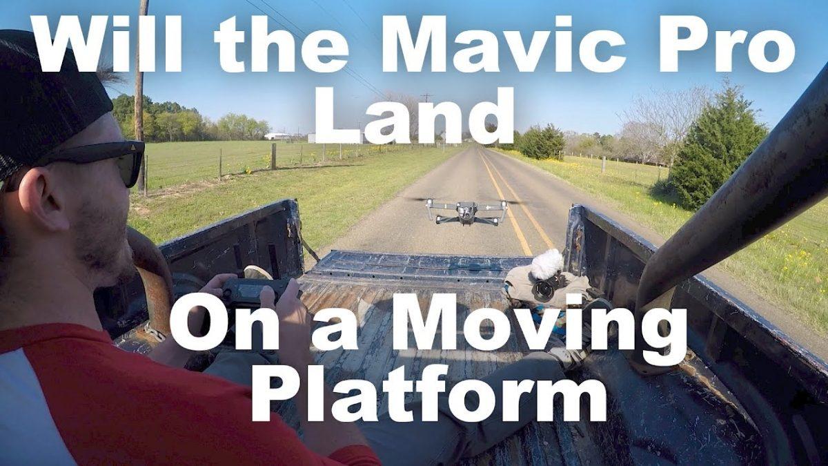 無謀過ぎ!Mavic Proは動くトラックの荷台に着陸できるか!?
