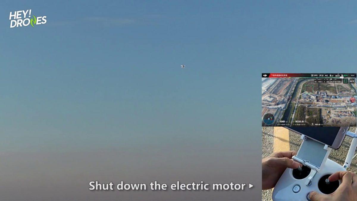 予想外の結末!Phantom 4 Proを空中でモーターを停止してみた!