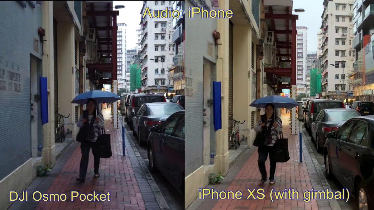 カメラ好き必見!Osmo Pocket vs iPhone XSの映像比較!
